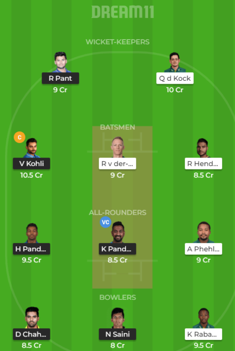 IND v SA 2nd T20I Dream 11 Predictions Today Grand LeAGUE (1)