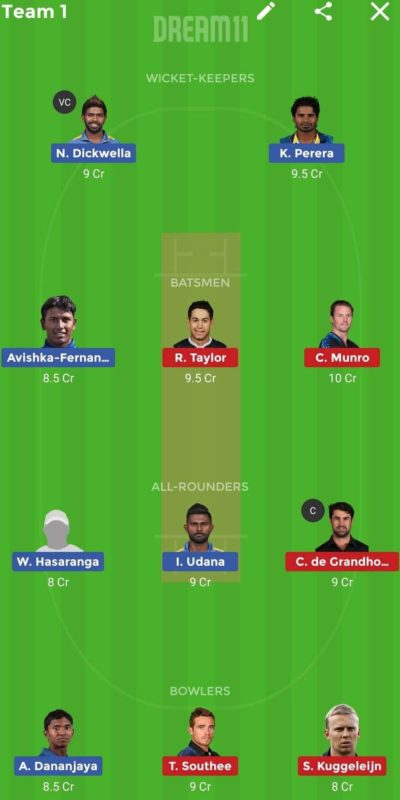 SL vs NZ 3rd T20I Dream 11 Tips & Today Match Predictions (1)