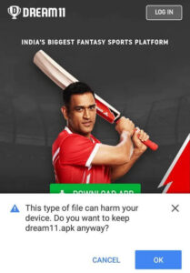 How to download Dream11 apk